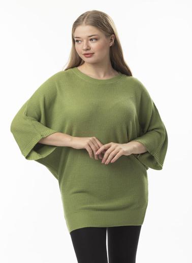 Stamina Büyük Beden Bluz Yeşil